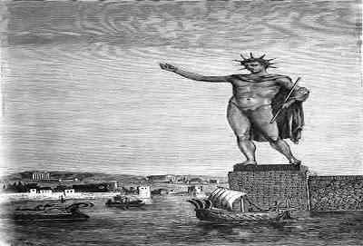 Seven-Wonders-of-the-Ancient-World-Colossus-of-Rhodes-عجائب-الدنيا-السبع-عملاق-رودس