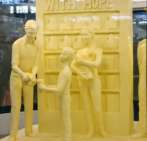 The 2015 Pennsylvania Farm Show Butter Sculpture