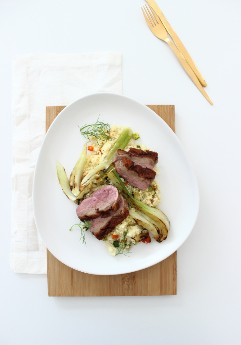 Entenbrust rosa, Taboulé, Fenchel gebraten, Gartipps, Sunday Lunch, Rezept, Sonntagsessen, Foodlove, kebo homing Südtiroler Foodblog