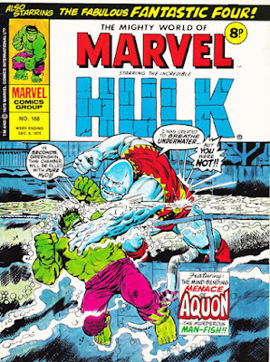 Mighty World of Marvel #166, Aquon vs the Hulk