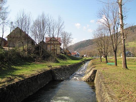 Dolny odcinek potoku Łomniczanka