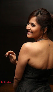 Telugu Anchor Actress Anasuya Bharadwa Stills in Strap Less Black Long Dress at Winner Pre Release Function  0024.jpg