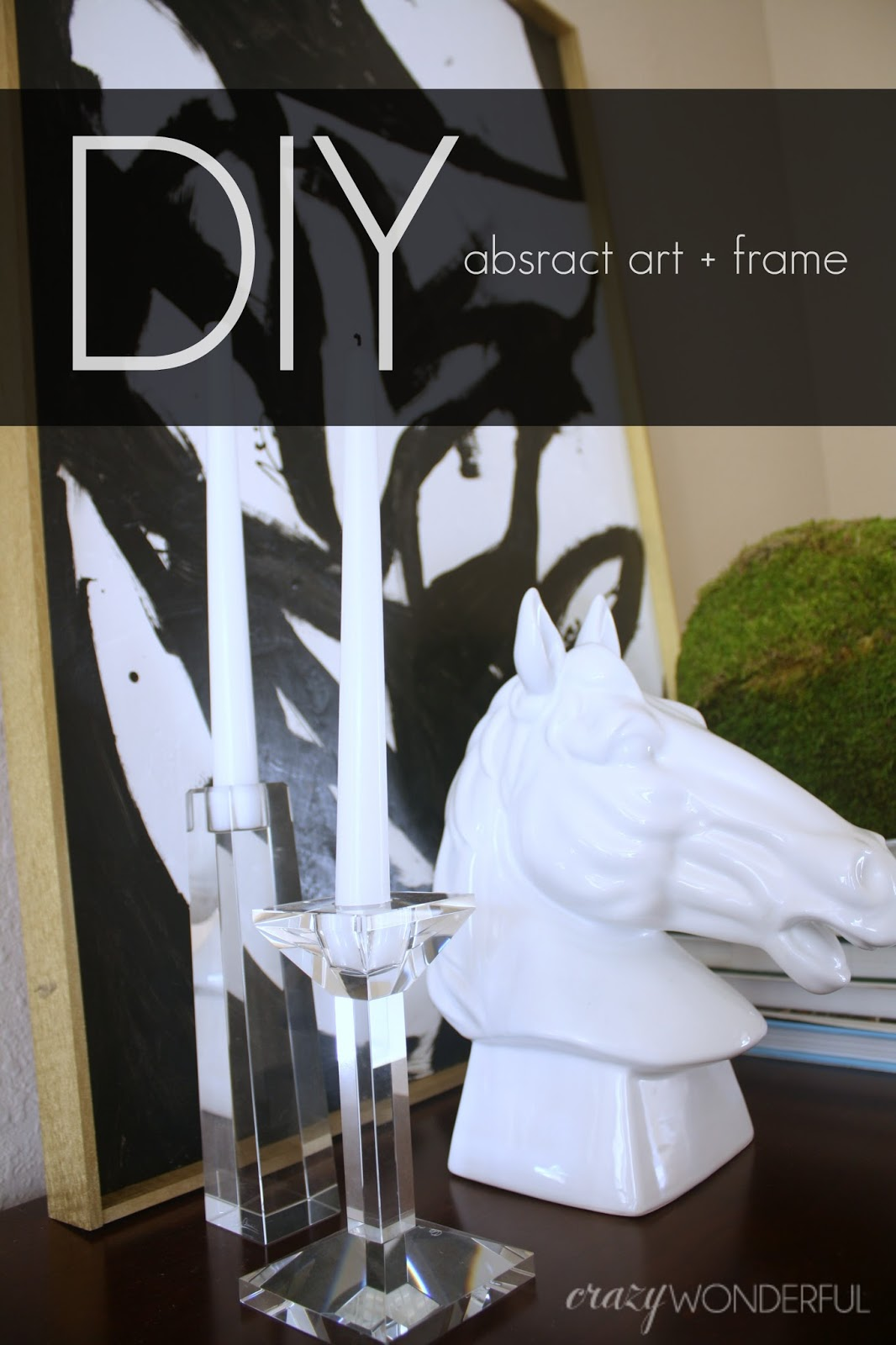 DIY abstract art + frame | tutorial - Crazy Wonderful