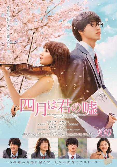 Sinopsis Your Lie in April / Shigatsu wa Kimi no Uso (2016) - Film Jepang