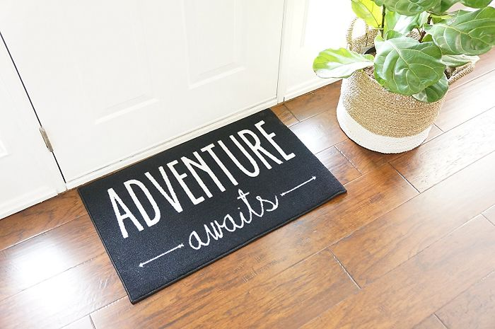 15+ Of The Best Traveler Gift Ideas Besides Actual Plane Tickets - Adventure Awaits Door Mat