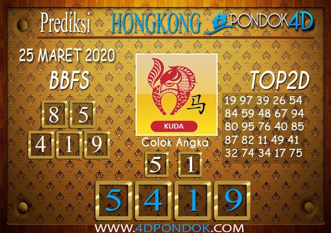 Prediksi Togel HONGKONG PONDOK4D 25 MARET 2020