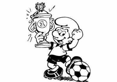 Free Smurfs Football Coloring Pages >> Disney Coloring Pages