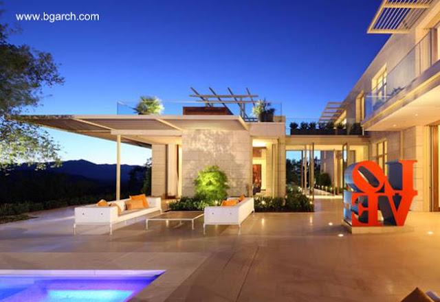 Sector de una gran residencia en el Valle de Napa, California