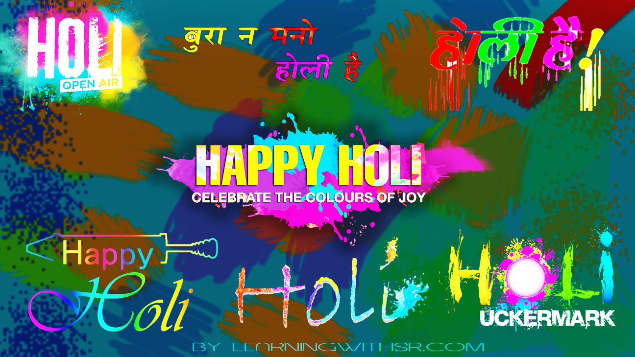 Happy holi text png 2019, Holi photo editing backgrounds