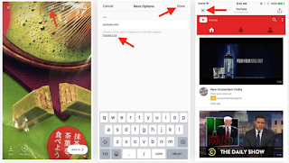 Cara membuat swipe up di instagram story untuk menambahkan link di instagram story anda