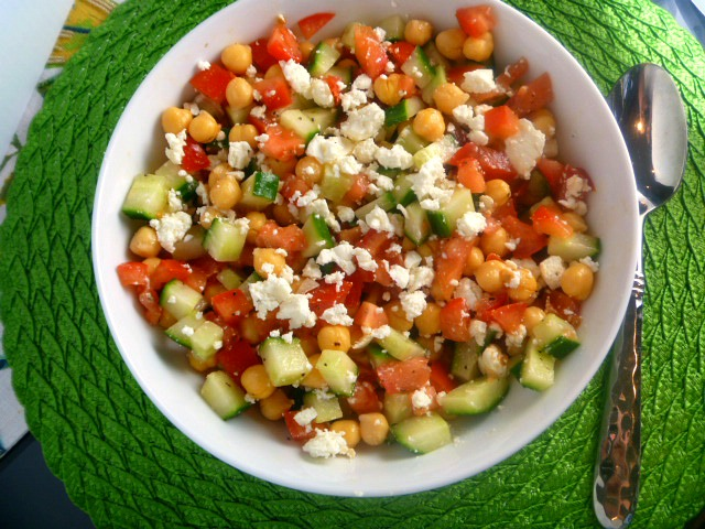 11 Best Dishes of 2018 - Middle Eastern Chickpea Salad - Slice of Southern