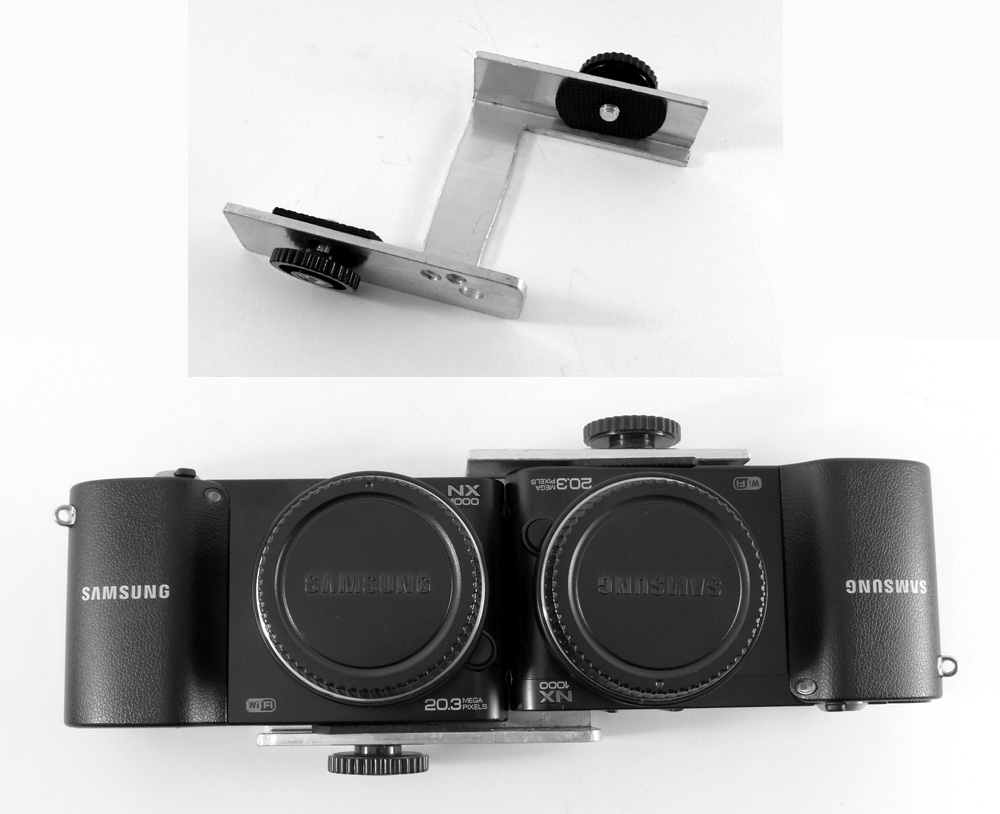3d by drt twin samsung nx1000 for stereo ii mounting following instructions from bob karambelas i used a twin aluminum channel and cut it to produce the z mount shown here sciox Choice Image
