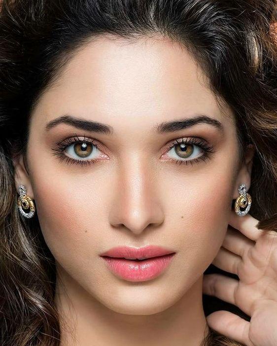 Tamannah Bhatia Stylish Platinum Ear Tops
