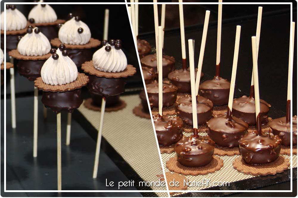 Sucettes brownies chocolat pécan de Gaëtan Fiard Salon du chocolat