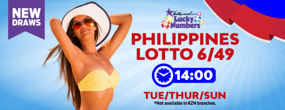 Philippines 6/49 Lotto - Lucky Numbers - Hollywoodbets - Beautiful Woman - yellow bikini - Tuesday, Thursday, Sunday - 14:00
