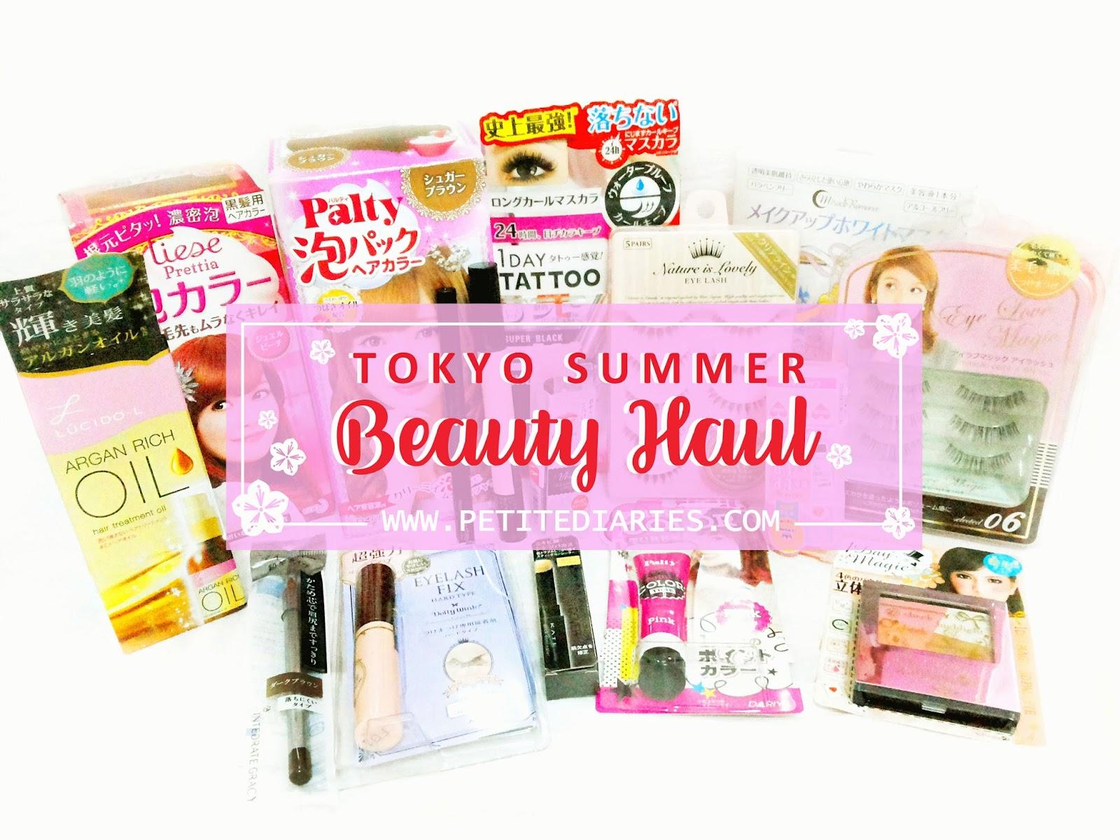 tokyo beauty haul petitediaries