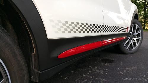 Fiat 500X with Mopar Side Stripe