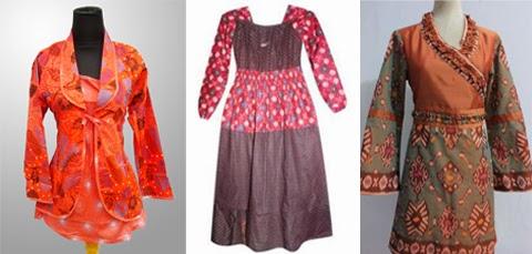 contoh gambar baju atasan batik kombinasi big size
