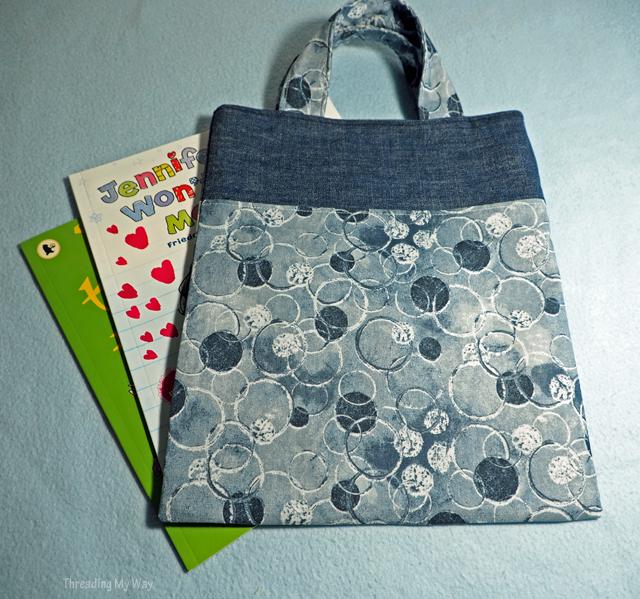 Easy to make ~ Denim Jeans Pocket Tote Bag ~ Tutorial