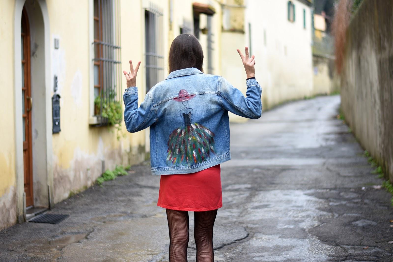 giacca jeans personalizzata