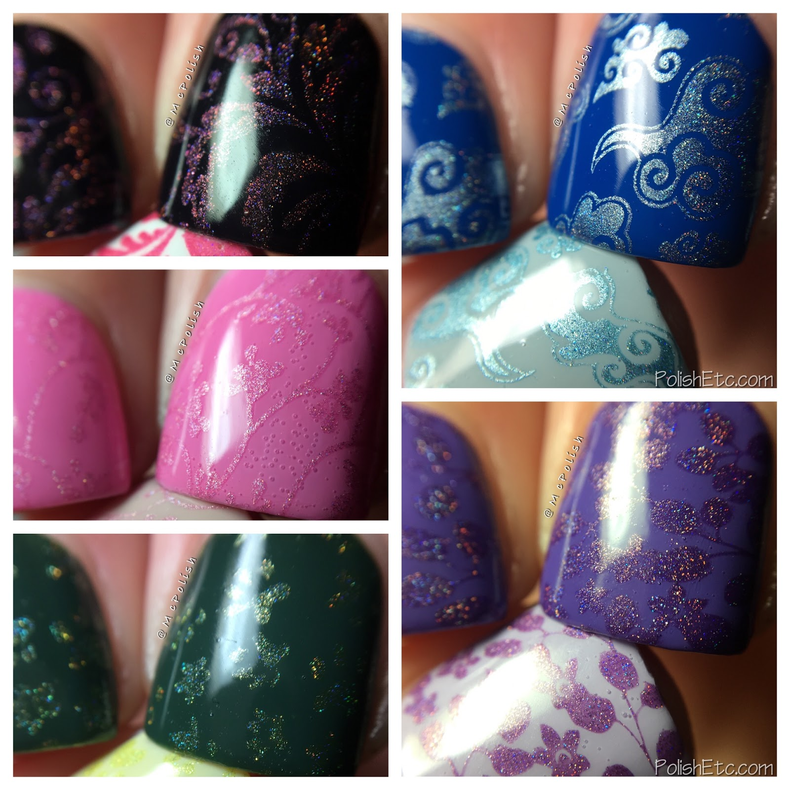 Celestial Cosmetics stamping polishes for Color4Nails - McPolish