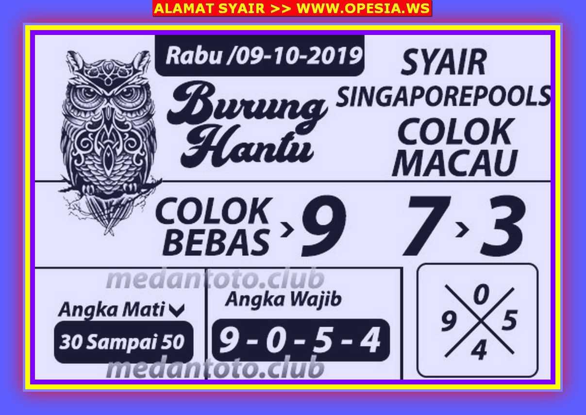 Kode syair Singapore Rabu 9 Oktober 2019 47