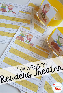 Readers Theater for the fall- September Activities and primary resources plus three FREEBIES- fun ELA, math, and social studies activities for students during the month of September