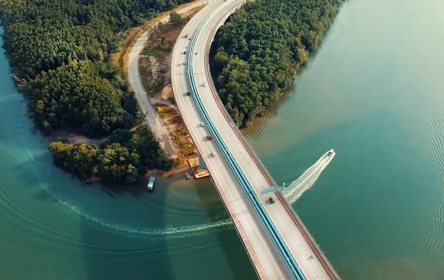 Aerial Photography of Concrete Bridge HD Copyright Free Image