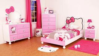 Gambar Kamar Hello Kitty Warna Pink 7