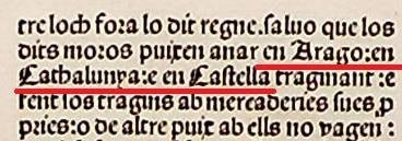 En estos Furs del Regne de Valéncia (1493) citen a Aragó, Catalunya i Castella com territoris foràneus. ¿No diuen alguns que valencians erem junt a catalans una mateixa nació?