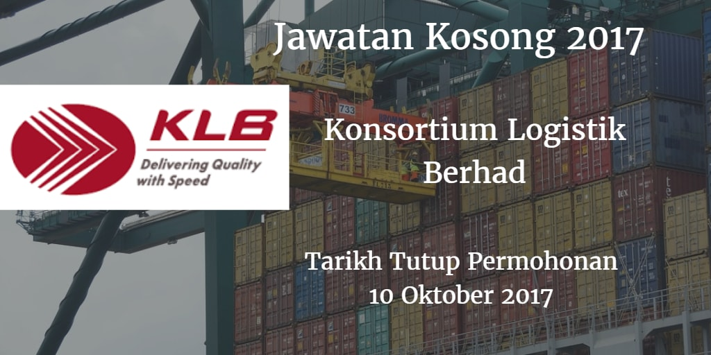 Jawatan Kosong KLB 10 Oktober 2017