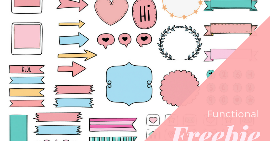 malena haas freebie friday functional planner stickers. Black Bedroom Furniture Sets. Home Design Ideas