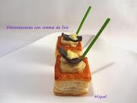 Minivolavents con crema de foie