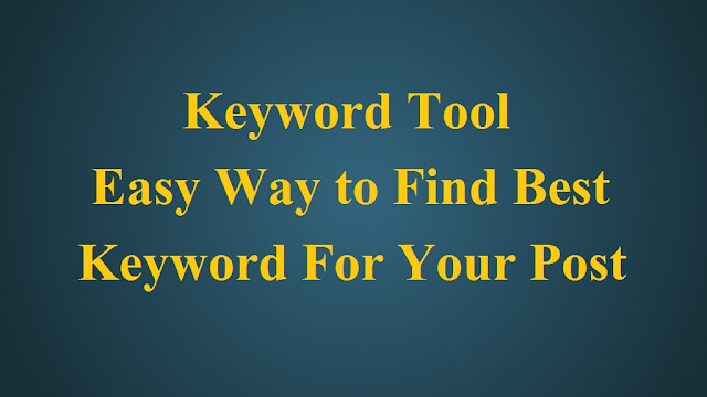 find keyword for blog