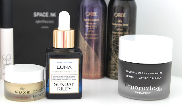 A picture of my favourite skincare products from Space NK