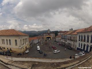 Museu de mineralogia em Ouro Preto/MG. Vista da praça central.