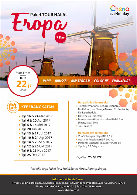 Paket Tour Eropa Muslim Friendly
