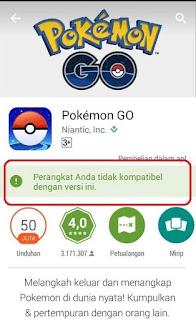 Cara Mengatasi Game Pokemon Go Tidak Kompatibel Dengan Perangkat