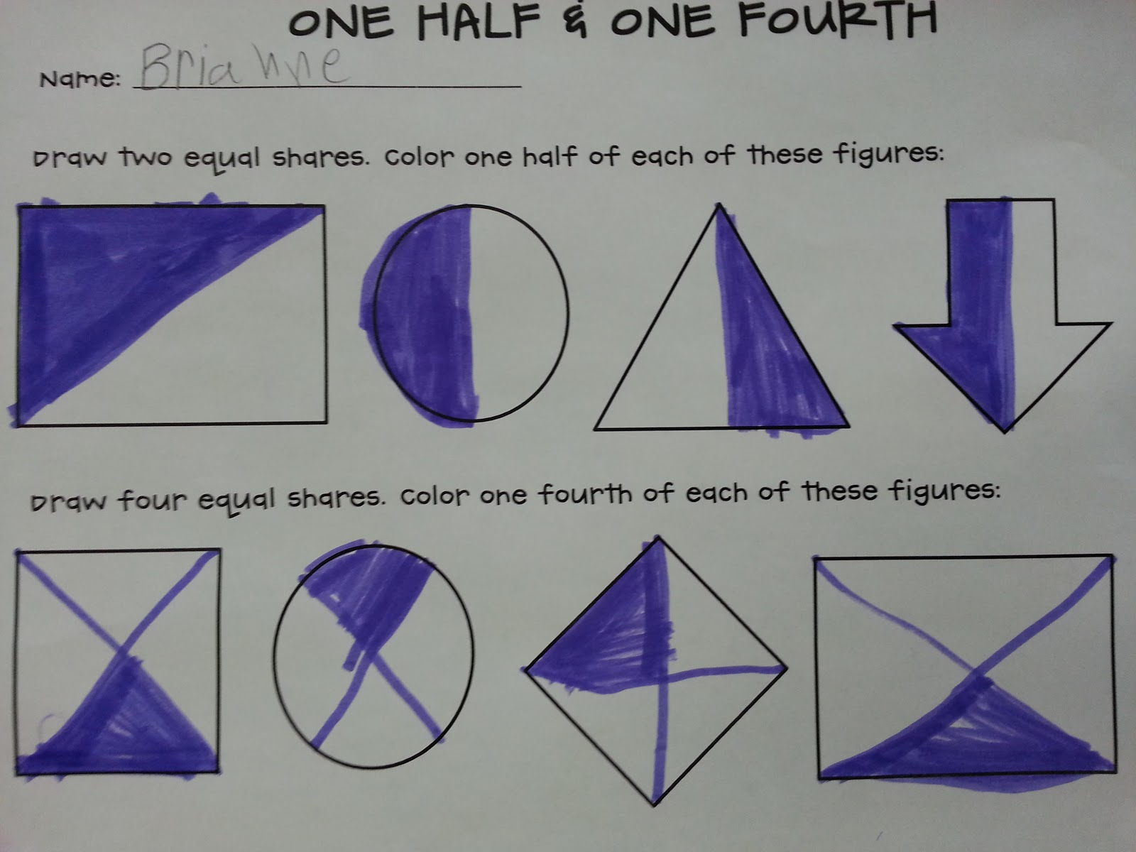 Following First Grade With Mrs Parker Fraction Action