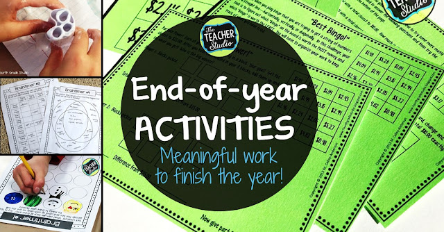 Finding meaningful and fun end-of-year activities for third grade, fourth grade, and fifth grade can be challenging. This blog post is full of engaging and meaningful activities to do in the last week of school. Low prep activities, easy to prep and fun for students. End of year math, end of year printables, end of year lessons, creativity lessons, STEM activities