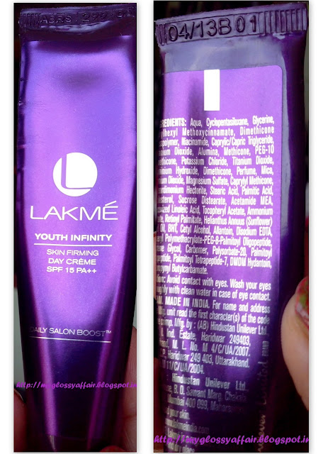Lakme Youth Infinity Skin Firming Day Cream SPF 15 PA++ Review
