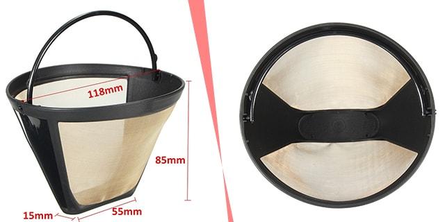 Çin üretimi gold kahve filtresi, www.kahvekafe.net