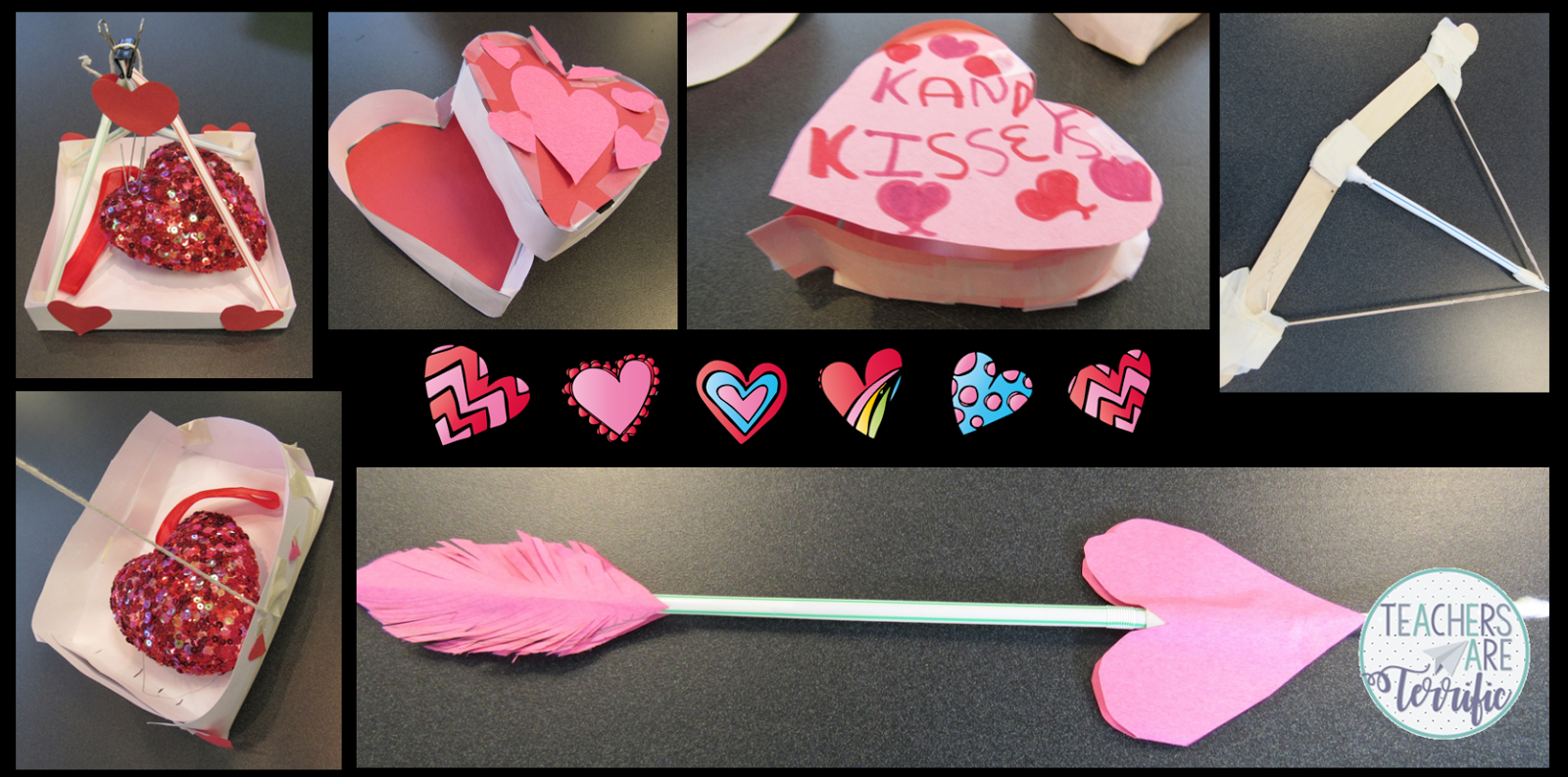 Valentine's Day STEM challenges! Here's a trio of challenges that your kids will love! Check the blog post for more!