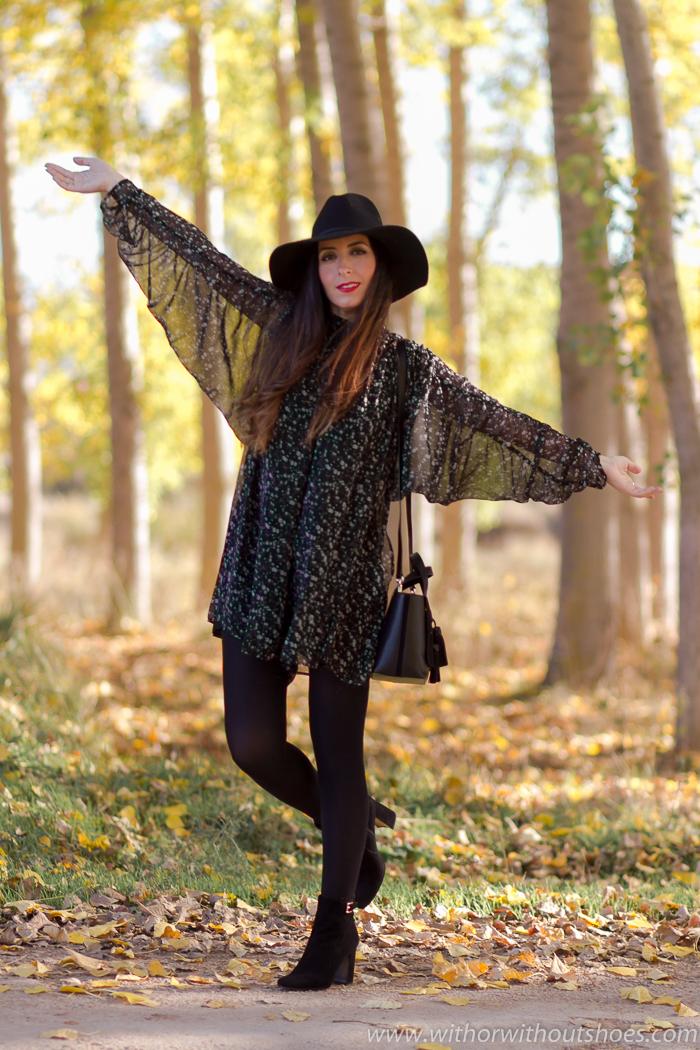 Influencer bloguera valenciana con look bonito con mono corto de Zara