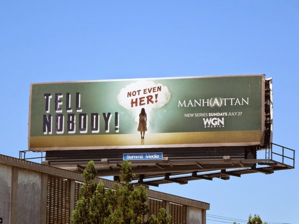 Manhattan Tell nobody Not even her War propaganda billboard