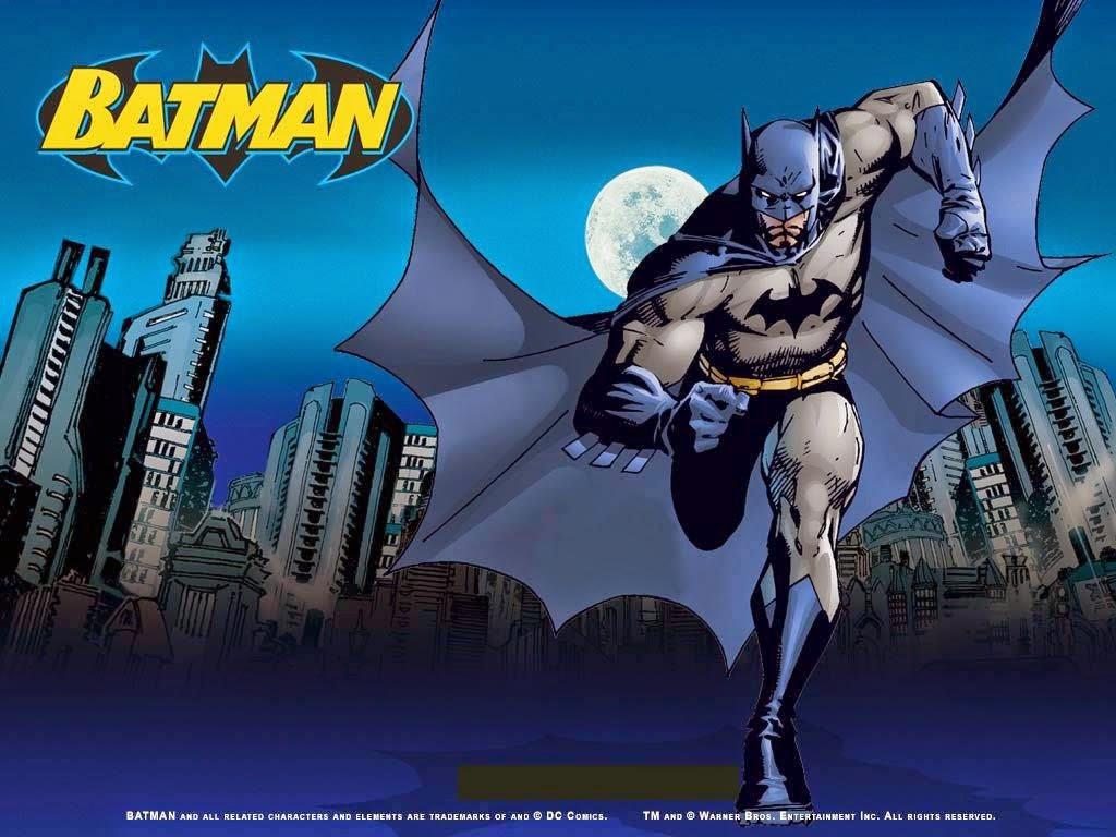 Para hacer invitaciones, tarjetas, marcos de fotos o etiquetas, para imprimir gratis de Batman en Azul.