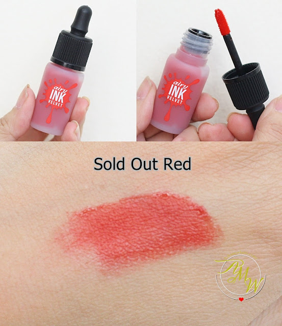 a photo of PeriPera's Airy Ink Velvet Sold Out Red