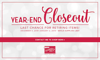 Stampin' Up! Year-End Closeout end January 2, 2019 While Supplies Last