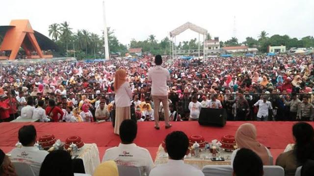 Kampanye Akbar, Andi Seto Orasi Politik Tanpa Teks di Hadapan Puluhan Ribu Massa SEHATI