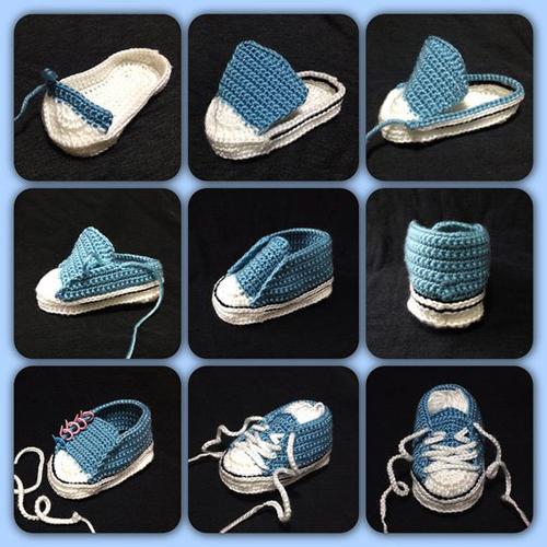 Crochet Baby Converse - Free Pattern